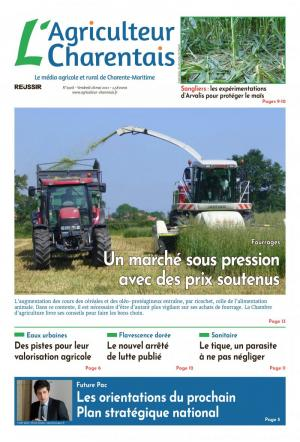 La couverture du journal l'Agriculteur Charentais n°2773 | septembre 2018